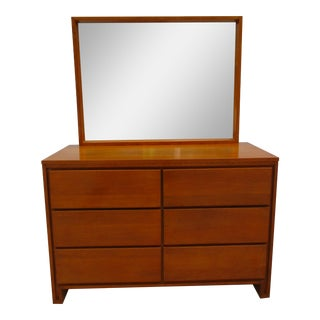 Leslie Diamond for Conant Ball Six Drawer Dresser with Mirror