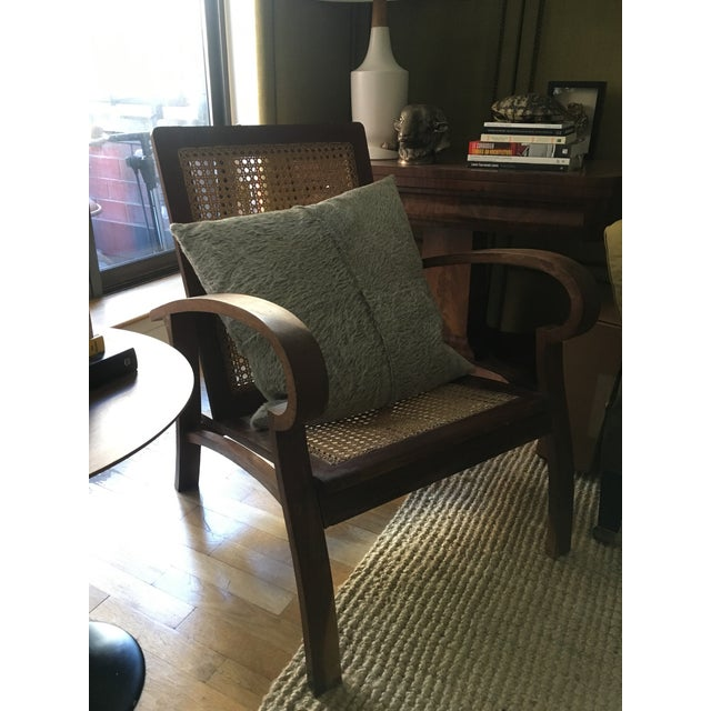 Mid-Century Teak Cane Chair - Image 5 of 5