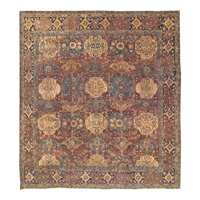 "21st Century Pasargad Agra Lamb's Wool Area Rug- 11' 9"" X 12' 9"" For Sale"