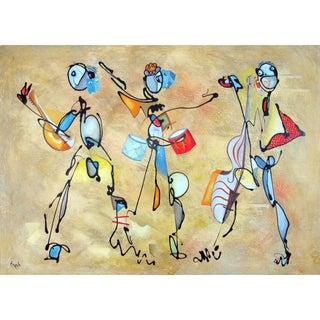 """""""Carnavale De Venise"""" Oil Painting by Clemente Mimun For Sale"""