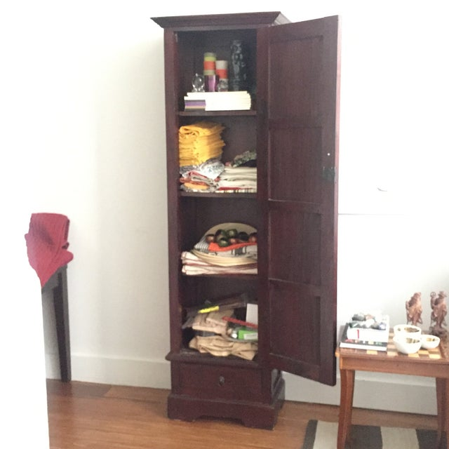 Pottery Barn Wood Cabinet - Image 5 of 5