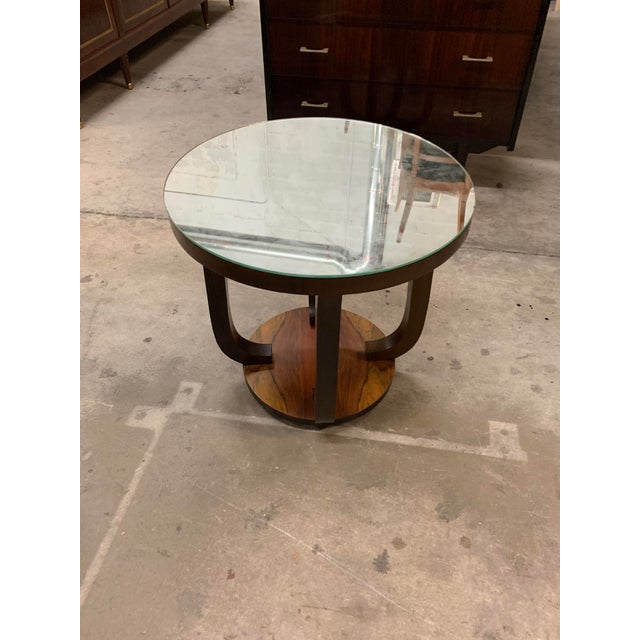 1940s Vintage French Art Deco ''Tulip'' Macassar Coffee Table or Side Table For Sale - Image 10 of 13