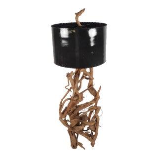 Mid-Century Modern Driftwood Floor Lamp For Sale