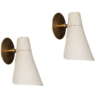 1950s Giuseppe Ostuni Articulating Sconces for O-Luce - a Pair For Sale
