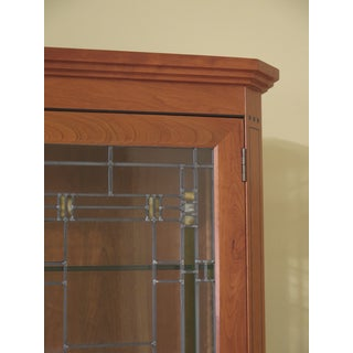 Stickley 21st Century Collection Leaded Glass Arts & Crafts Cherry China Cabinet Preview