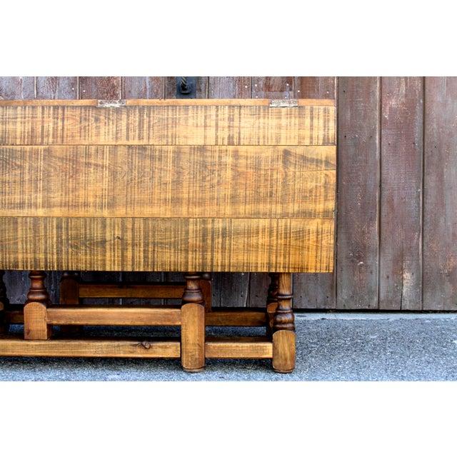 Boho Chic Spanish Colonial Folding Gateleg Table For Sale - Image 3 of 12