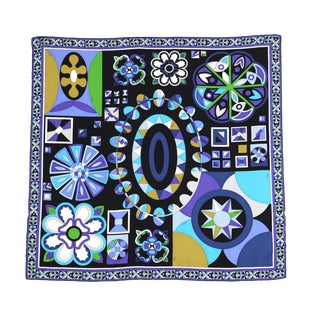 Beautiful Contemporary Pucci Graphic Silk Scarf For Sale