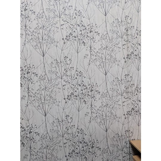 Art Deco Contemporary Branch and Floral Scene Wallcovering For Sale - Image 3 of 3