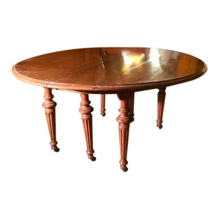 19th Century Traditional Oak Round Table For Sale