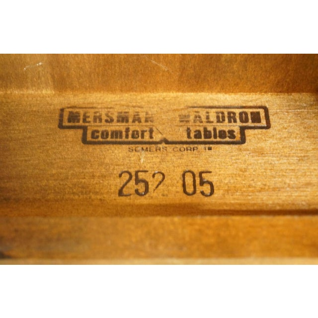 Wood Mersman Solid Cherry Queen Anne Oval End Table For Sale - Image 7 of 8