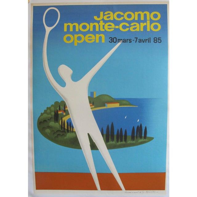 1985 Original Fix Masseau Poster, Jacomo Monte Carlo Open (Artist Signed)
