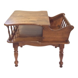 Vintage Colonial Dough-Box Style Side Table For Sale