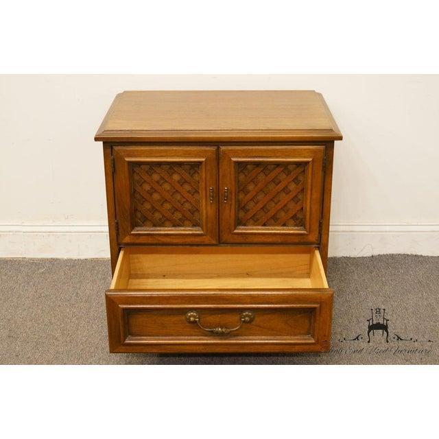 "Wood Drexel Esperanto Collection Spanish Mediterranean 26"" Cabinet Nightstand 401-620 For Sale - Image 7 of 13"