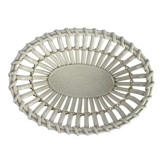 Creamware Ceramic Basket For Sale