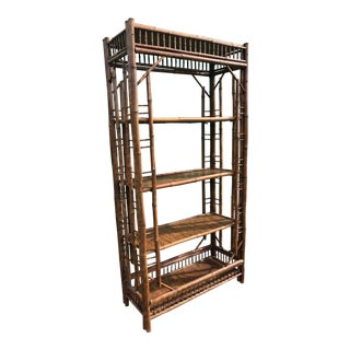 Vintage Bamboo Etagere For Sale