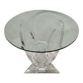 1990s Mikhail Loznikov 'Eclipse of Time' Lucite Side Table For Sale