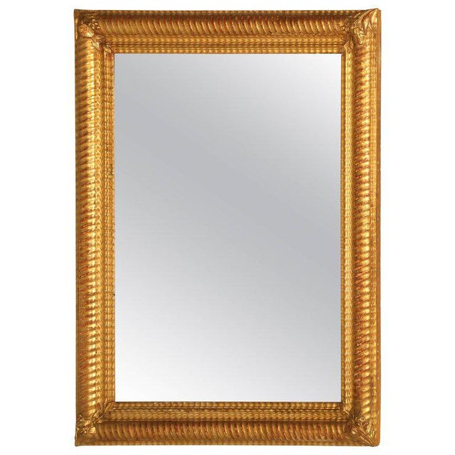 Antique French Gilded Mirror For Sale - Image 9 of 9