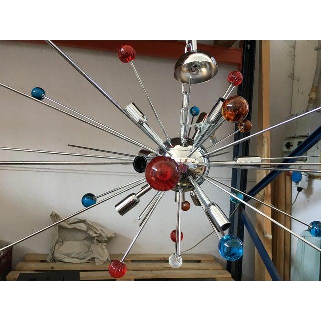 Contemporary Vintage Murano Glass Triedo Sputnik Chandelier For Sale - Image 3 of 4
