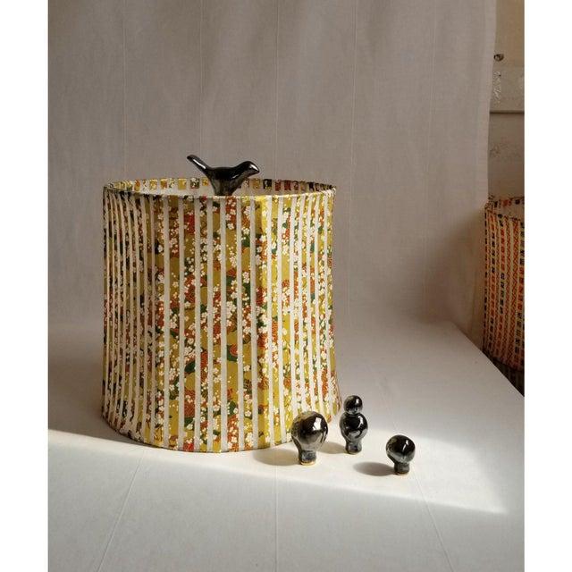 2020s Ceramic Bird Finial in Metallic Black For Sale - Image 5 of 6
