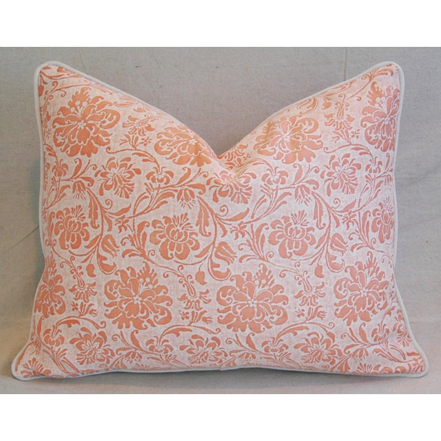 Early 21st Century Designer Italian Fortuny Cimarosa Feather/Down Pillows - a Pair For Sale - Image 5 of 10