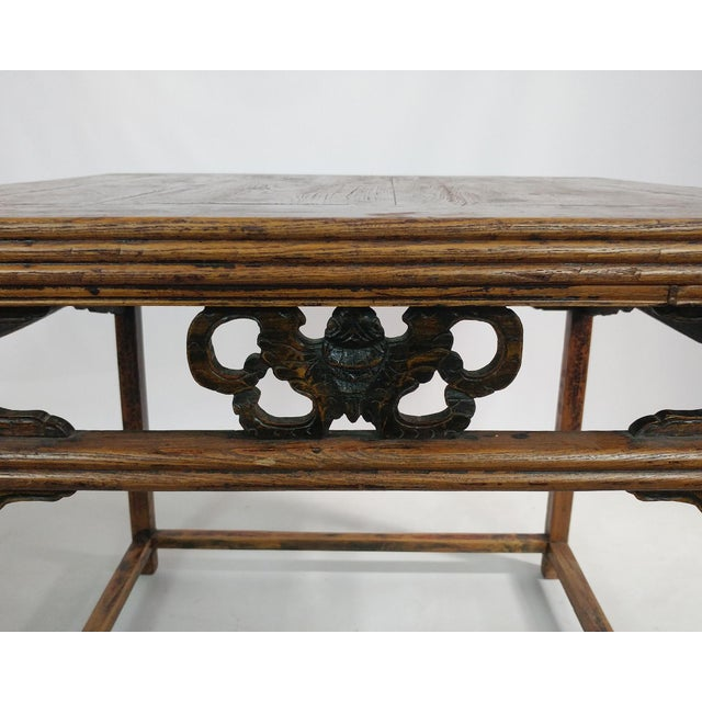 Asian Antique Ningbo Carved Dining Table For Sale - Image 3 of 4