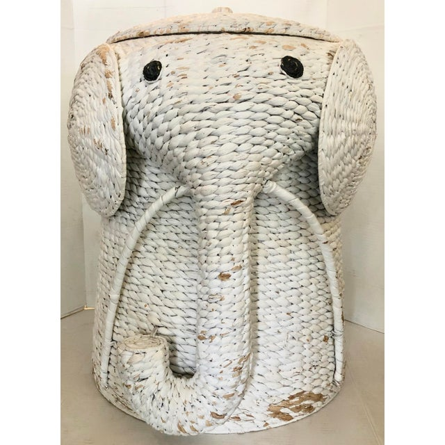 XL Elephant Basket With Lid For Sale - Image 11 of 11