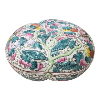 Mid 20th Century Chinese Porcelain Container With Lid For Sale