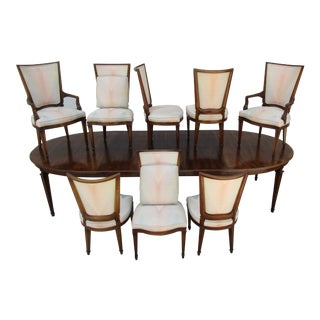 20th Century John Widdicomb Dining Set - 10 Pieces For Sale