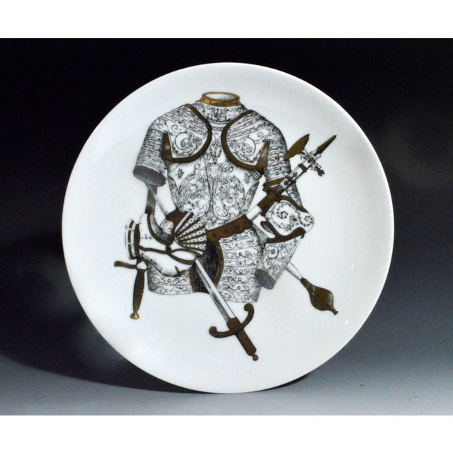 Piero Fornasetti Plate with Coats of Armour, the Armature Pattern - Image 3 of 3