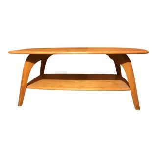 Mid-Century Modern Heywood Wakefield Blonde/Birch Coffee Table For Sale