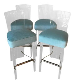 Image of Velvet Counter Stools