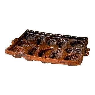 Set Five 18th Century Dutch Glazed Pottery Baking Molds