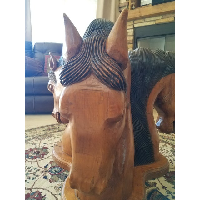 Brown Hand Carved Horse Head Coffee Table For Sale - Image 8 of 13