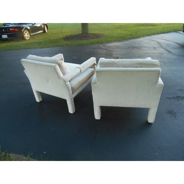 Drexel Parsons Style Club Chairs - A Pair - Image 6 of 7
