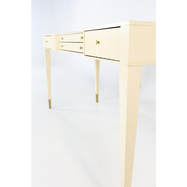 Wood Barbara Barry for Baker Contemporary White Lacquer Desk For Sale - Image 7 of 13
