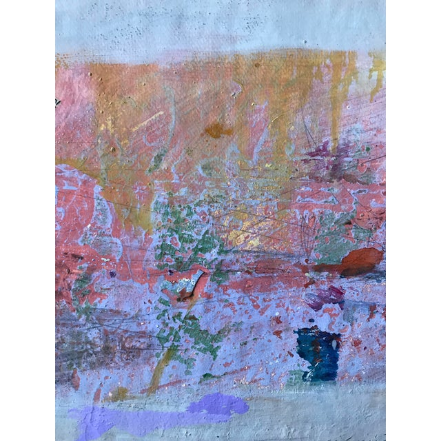 Pink, Purple and Gold 1980s Abstract Bay Area Artist For Sale - Image 4 of 6