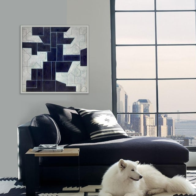 Geometric Abstract Oil Painting From the Ancient Modern Series by Stephen Cimini For Sale In New York - Image 6 of 7