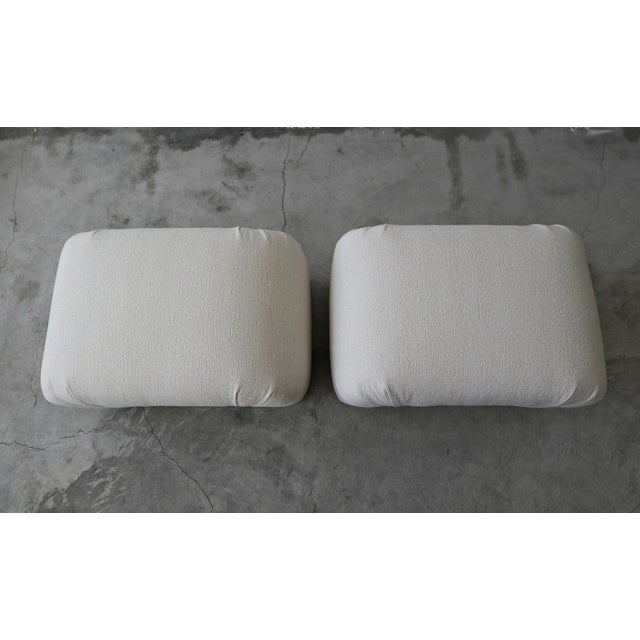 1980s Oversized Pair of Mid Century Waterfall Ottoman Stools For Sale - Image 5 of 7