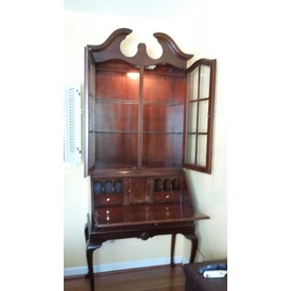 Vintage Cherrywood Secretary Desk with Hutch Preview