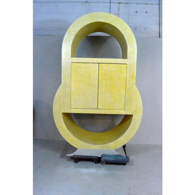 Yellow Postmodern Pat Lippy Ovoid Rounded Bar or Tv Cabinet For Sale - Image 8 of 8