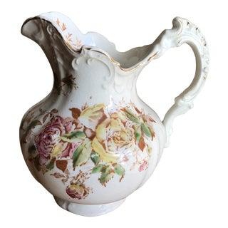 Petite Shabby Chic Cottage Vintage Rose Pitcher Vase