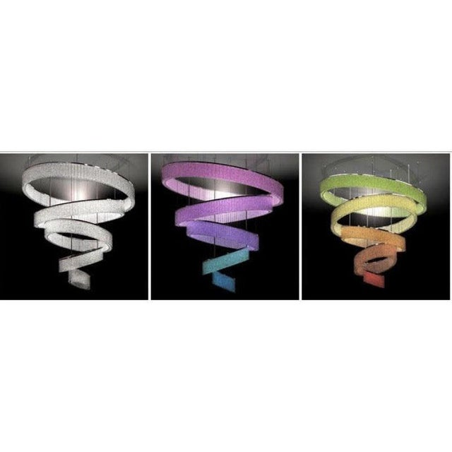 Transparent Ring Swirl Crystal Jewel For Sale - Image 8 of 9