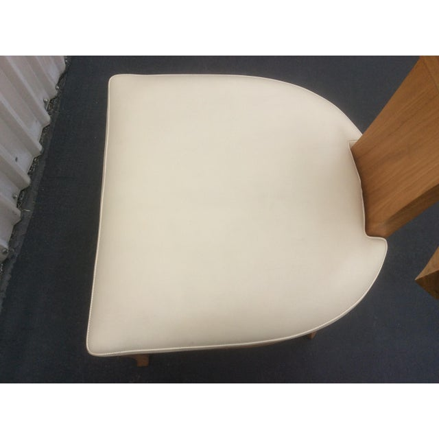 Ironies Mid Century Style Ceres Chair With Leather Seat by Ironies For Sale - Image 4 of 11