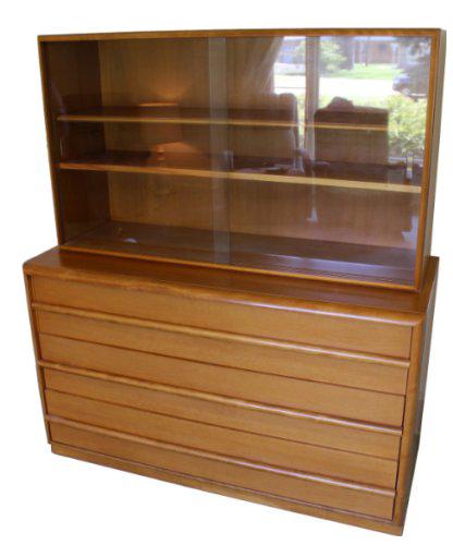 1960s Vintage Robsjohn Gibbings For Widdicomb Mid Century Modern Cabinet  Sideboard Hutch