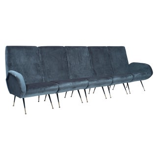 1950s Italian Mid-Century Sectional Sofa - Set of 5 For Sale