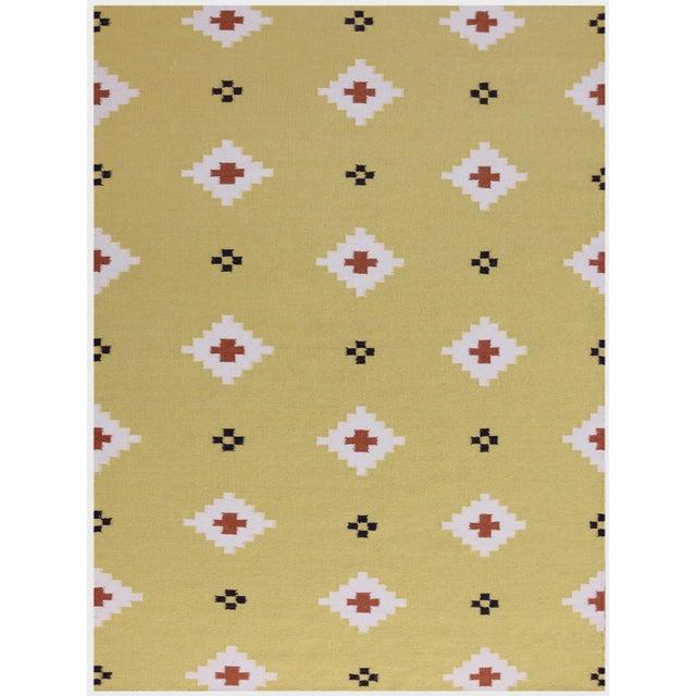 Zara Southwestern Yellow Flat-Weave Rug 8'x10' For Sale - Image 4 of 4