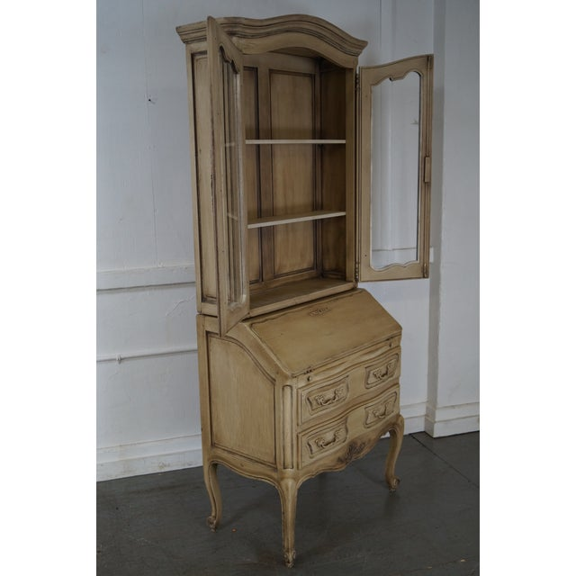 French Louis XV Style Painted Secretary Desk - Image 9 of 10