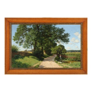 Traditional Landscape Painting by Ludvig Kabell For Sale