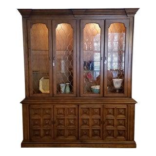 Vintage Drexel Esperanto Style China Cabinet