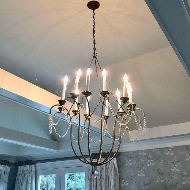 The Italian Chandelier's simple, elegant outline is based on a voluminous 18th century Italian sconce. The suspension...